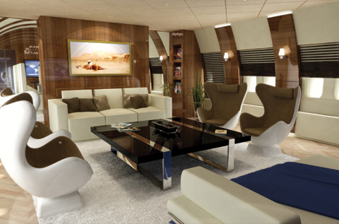 Main Deck Lounge - Luxury Aviation